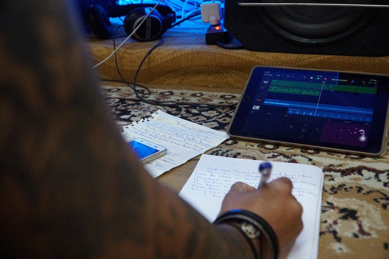Wir nutzen die Zeit der räumlichen Trennung - Songwriting